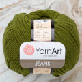 Yarnart Jeans Yarn, Dark Green - 82