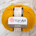 Yarnart Jeans Yarn, Mustard Yellow - 84