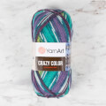 YarnArt Crazy Color Knitting Yarn, Variegated - 178