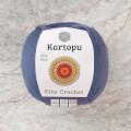 Kartopu Fine Crochet Mavi El Örgü İpi - K1533