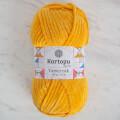 Kartopu Yumurcak Velvet Knitting Yarn, Yellow - K320