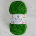 Kartopu Yumurcak Velvet Knitting Yarn, Green - K469