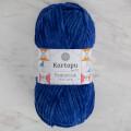 Kartopu Yumurcak Velvet Knitting Yarn, Saxe Blue - K524