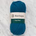 Kartopu Cozy Wool Petrol Mavisi El Örgü İpi - K1467