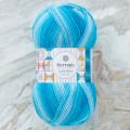 Kartopu Lulla Baby Mavi Ebruli El Örgü İpi - H2239