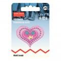 PRYM Gül Pembe Kalp Desenli Aplike - 925271