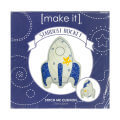 Make it 27x32 cm Cushion Embroidery Kit, Rocket - 585143
