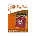 Duftin 38x42 cm Claret Bag Cross Stitch Kit, Flower - 10754- aa0000