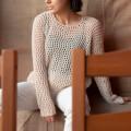 La Mia Mercerized Cotton Siyah El Örgü İpi - 1