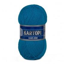 Kartopu Kar-Sim Mavi El Örgü İpi - K512