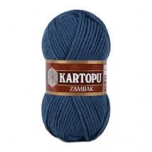Kartopu Zambak Koyu Mavi El Örgü İpi - K650