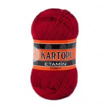 Kartopu Etamin Kırmızı El Örgü İpi - K120