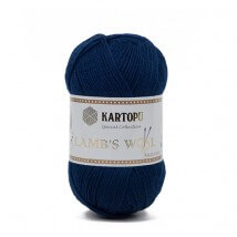 Kartopu Lamb's Wool Lacivert El Örgü İpi - K634