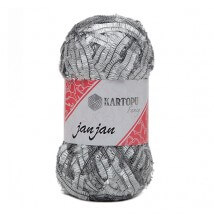 Kartopu 5'li paket Janjan Gümüş El Örgü İpi - KF310