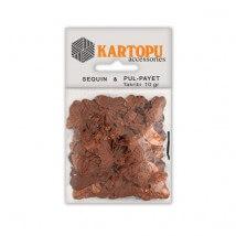 Kartopu Kahverengi Kelebek Figürlü Figürel Pul Payet - PP5