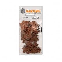 Kartopu Kahverengi At Figürlü Figürel Pul Payet - PP8