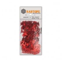 Kartopu Kırmızı Dinazor Figürlü Figürel Pul Payet - PP9