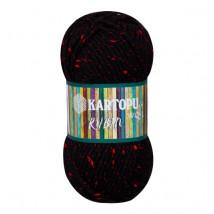 Kartopu Rubin Siyah El Örgü İpi - K940