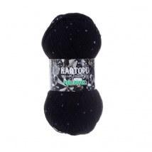 Kartopu Pulpiyel Siyah El Örgü İpi - K940