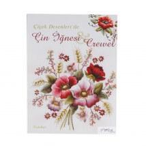 Çiçek Desenleri ile Çin İğnesi Crewel Nakış Dergisi