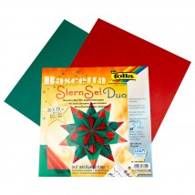 Folia Parlak Kırmızı Yeşil Bascetta Yıldız Kiti