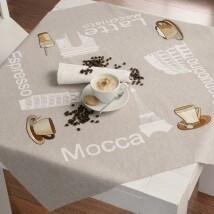 Duftin 78x78 cm Mocca Desenli Masa Örtüsü Çin İğnesi Nakış Kiti - 10618-AA0327