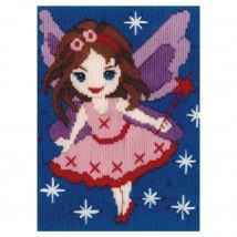 Duftin 15x15 cm Melek Desenli Resim Uzun İşleme Kiti - FLS579875-AA0346