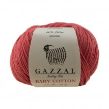 Gazzal Baby Cotton Kırmızı Bebek Yünü - 3418