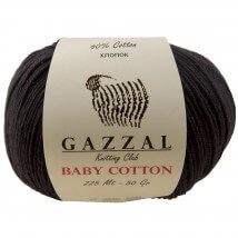 Gazzal Baby Cotton Siyah Bebek Yünü - 3433