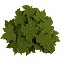 La Mia 3.5x5.5 cm 25'li Yeşil Çınar Yaprak Keçe Motifler - YS352-M53