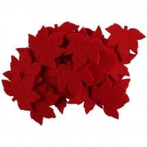 La Mia 25'li Kırmızı Çınar Yaprak Keçe Motifler - YS352-M13
