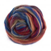 Gazzal Felt Wool Karışık Renk Ebruli Yün Keçe - 6010
