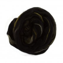 Gazzal Felt Wool Lurex Siyah Ebruli Yün Keçe - 6001