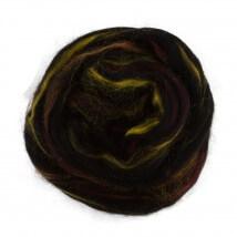 Gazzal Felt Wool Lurex Siyah Ebruli Yün Keçe - 6004