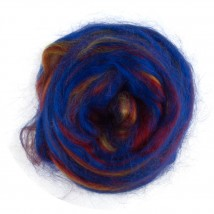 Gazzal Felt Wool Lurex Mavi Ebruli Yün Keçe - 6500