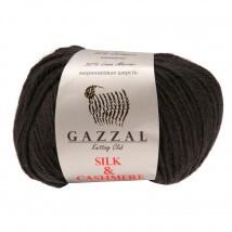 Gazzal Silk&Cashmere Siyah El Örgü İpi - 455