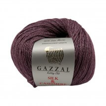 Gazzal Silk&Cashmere Mor El Örgü İpi - 457