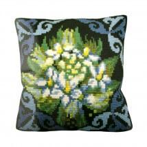 Collection D'art 40x40 cm Çiçek Desenli Goblen Yastık Kiti - 5124