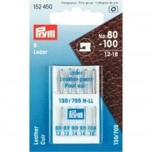 PRYM 5 Adet 3 Boy Deri İçin Düz Saplı Dikiş Makinesi İğnesi - 152450