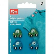 PRYM Yeşil-mavi Aplike Düğme Araba 312405