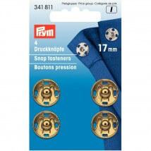 PRYM 17 mm 4 Adet Altın Dikilebilen Çıt Çıt - 341811