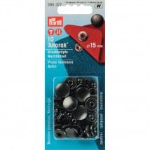 PRYM 15 Mm 10 Adet Mat Siyah Çıt Çıt - 390327
