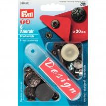 PRYM 20 Mm 6 Adet Baskılı Kabartmalı Çıt Çıt - 390513