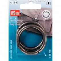 PRYM 35 mm Eskitme Gümüş Çanta Halkası - 417892