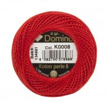 Coats Domino 8gr Kırmızı No: 8 Nakış İpliği - K0008