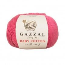 Gazzal Baby Cotton Pembe Bebek Yünü - 3415