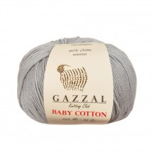 Gazzal Baby Cotton Gri Bebek Yünü - 3430