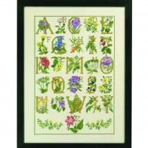 Permin 45x65 Harfler ve Çiçek Desenli Etamin Kiti - 709000