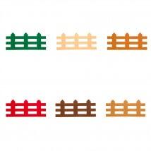 Hobikeçe 10'lu Karışık Renk Çit Keçe Motifler