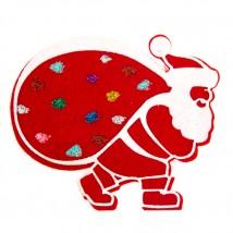 Hobikeçe 10'lu Karışık Renk Noel Baba Keçe Motifler